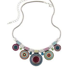Colorful Bohemian Alloy & Crystals Chocker